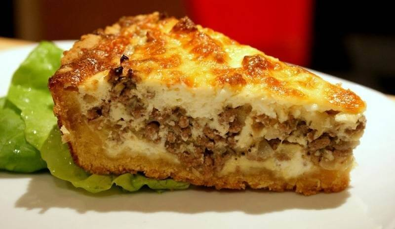 Быстрый пирог с мясным фаршем