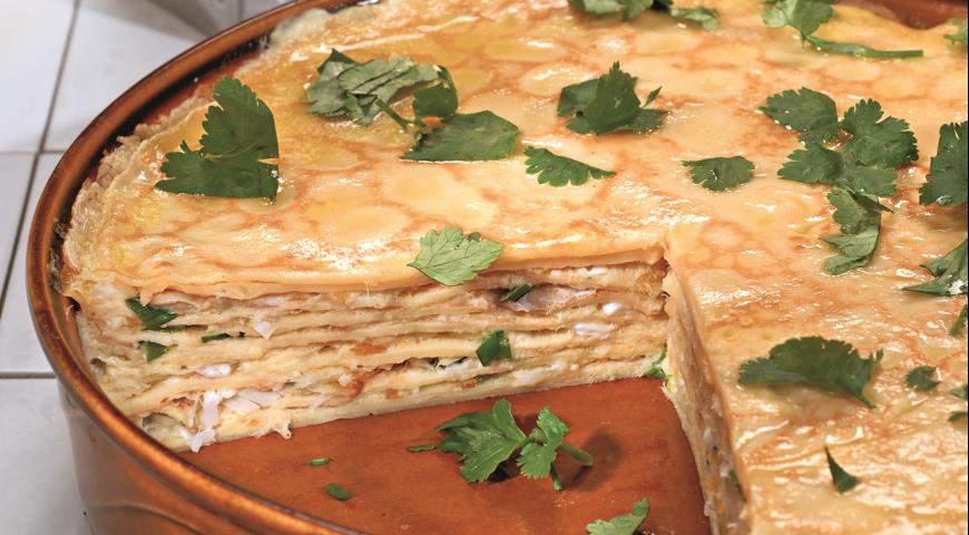 Пирог с копченой рыбой фото рецепт