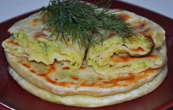 хычины с картошкой и сыром рецепт с фото