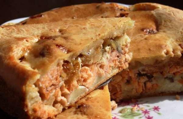 Пирог с селедкой и рисом рецепт 82