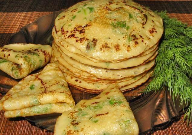 сырные блины с зеленью рецепт с фото
