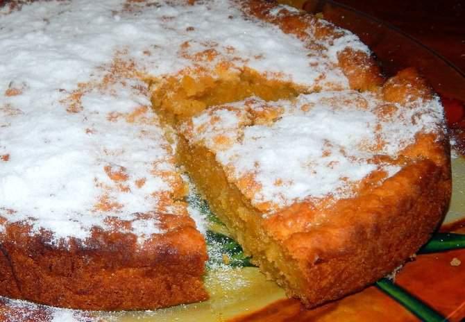 Тыквенный пирог с песочным тестом рецепт